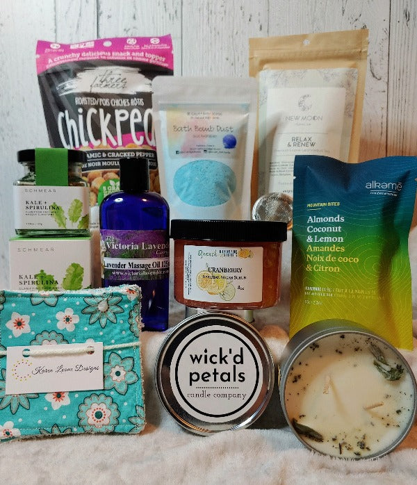 Mega Self Care Box, mother's day, birthday, secretary day, special gift box, made in Canada products