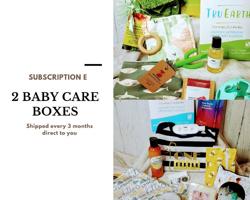 Bundle of Joy Box baby care subscription boxes, Canadian subscription boxes, made in Canada