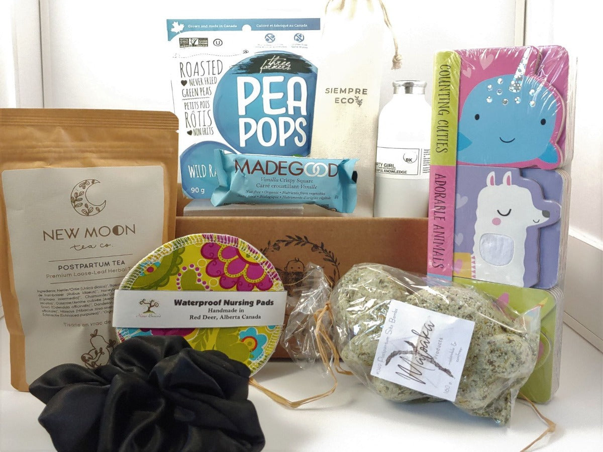 4th trimester, postpartum box, gift basket for new parents, mom to be