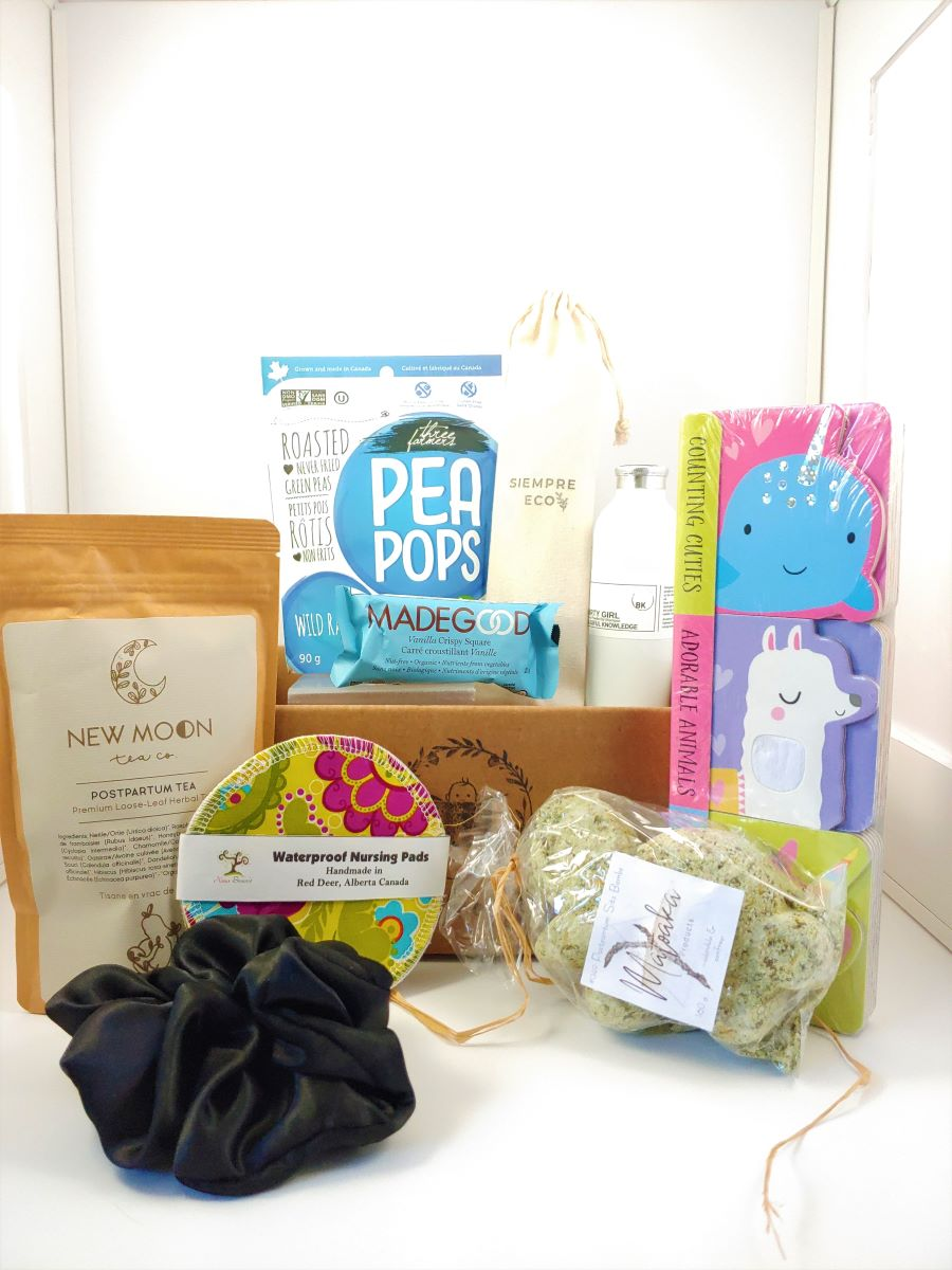 Postpartum, 4th trimester box, self care products for new parents