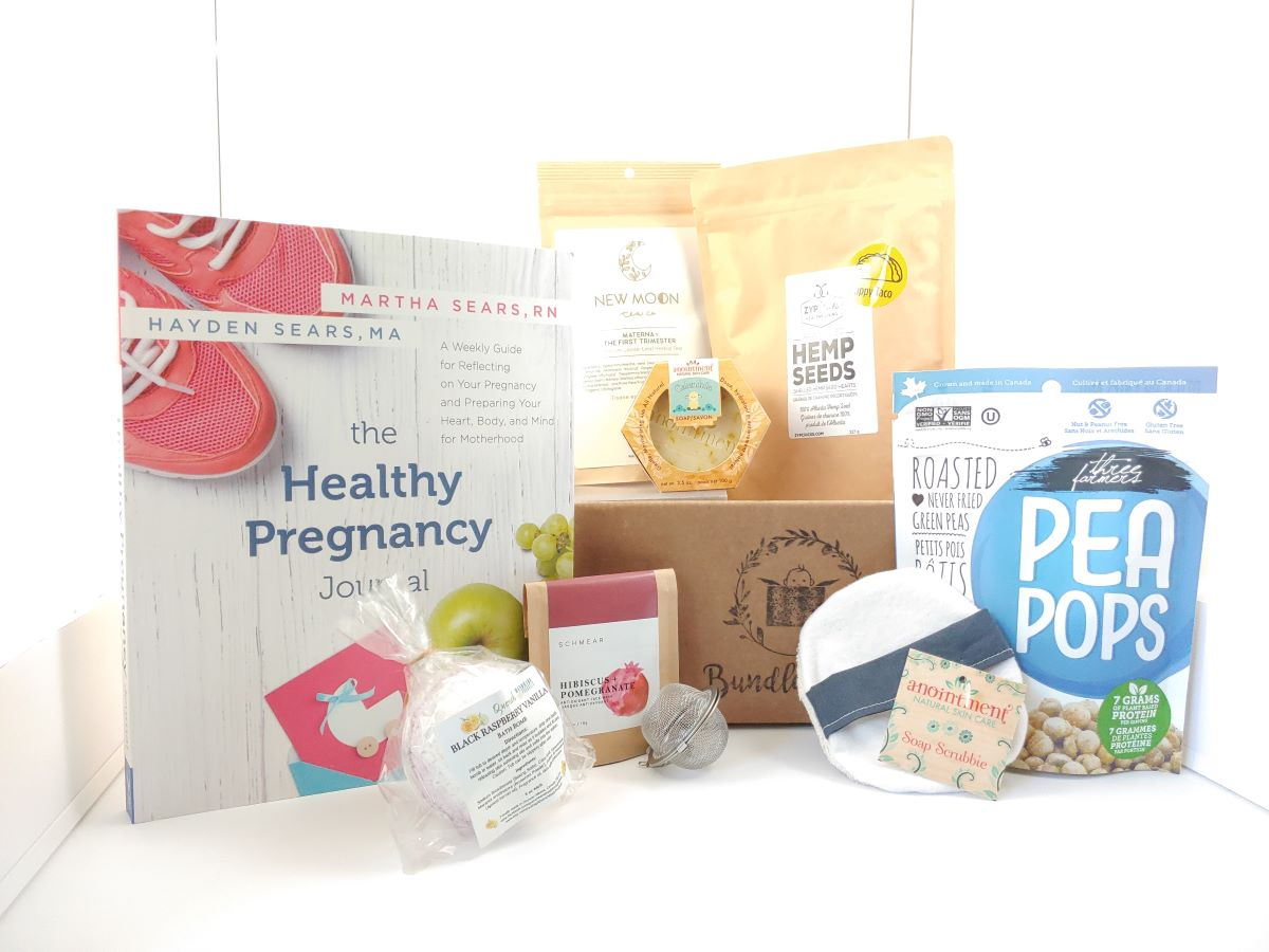 1st Trimester pregnancy box, pregnancy gift basket, pregnancy subscription boxes for self care