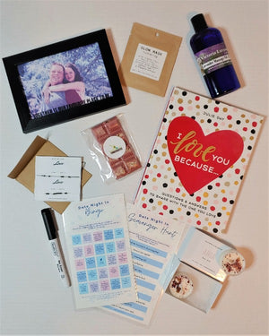 Date Night In Box, Bundle of Joy Box Valentines, Anniversary edition, made in Canada