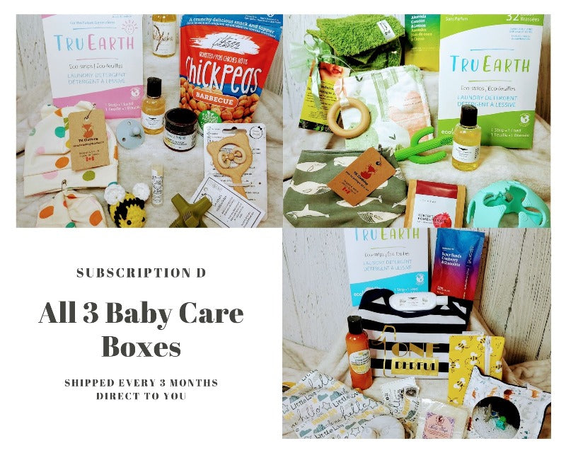 Canadian subscription box, baby care boxes, Bundle of Joy Box