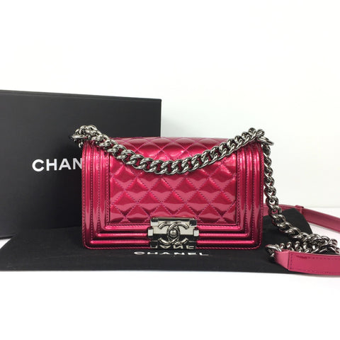 CHANEL SMALL PATENT BOY