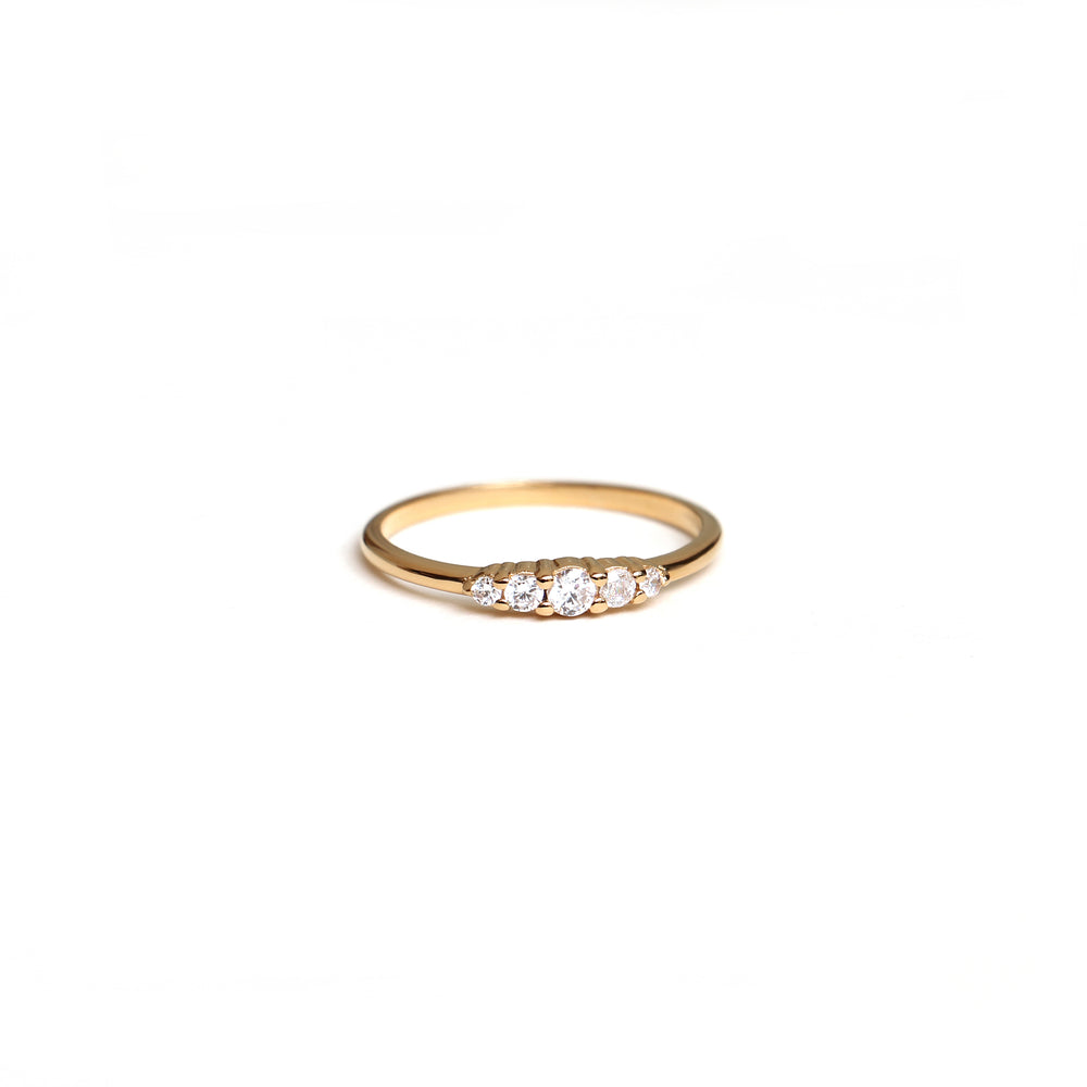 Handcraftedcph Aster ring gold plated