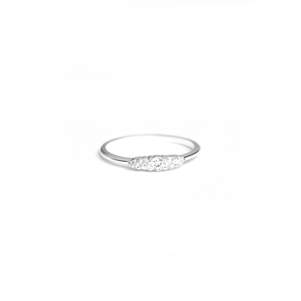 Handcraftedcph Aster ring silver crystal