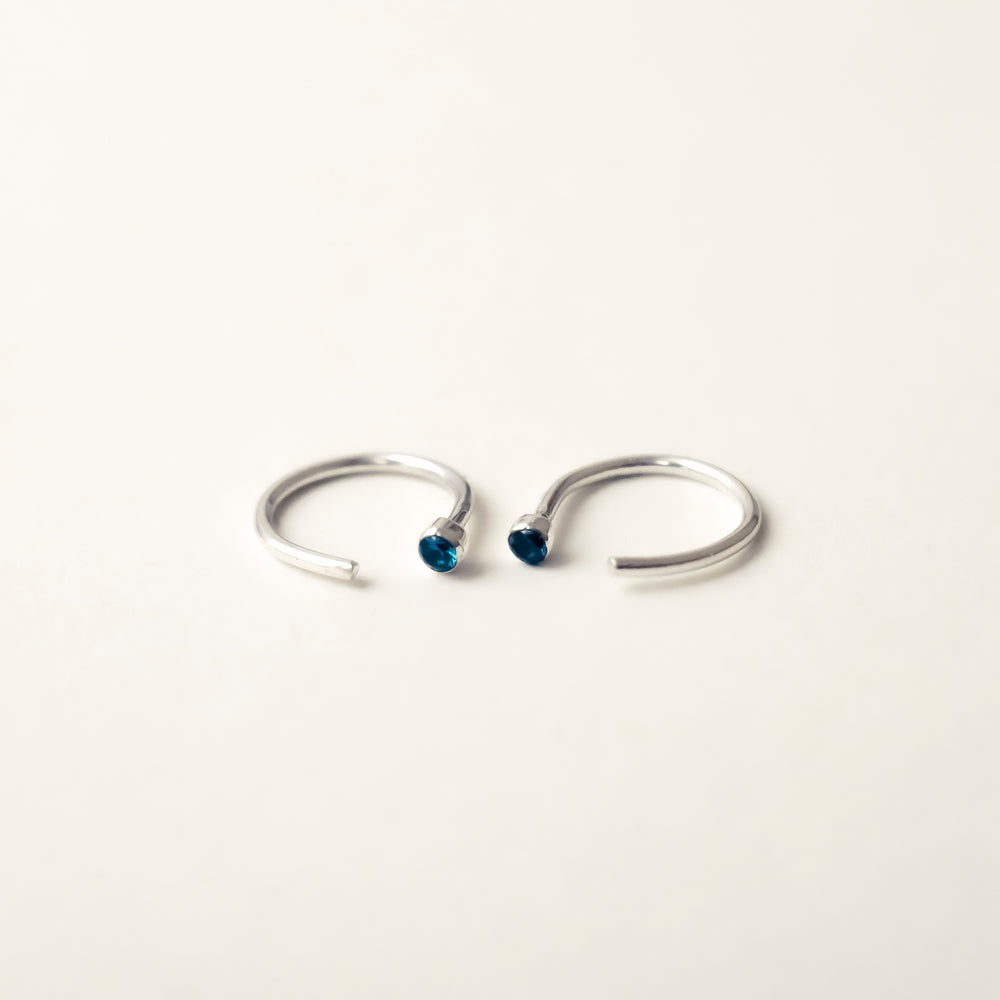 Cut Hoops - Blue