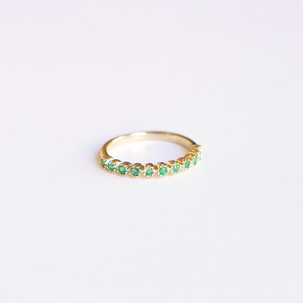 Emerald Eternity Ring - 8k