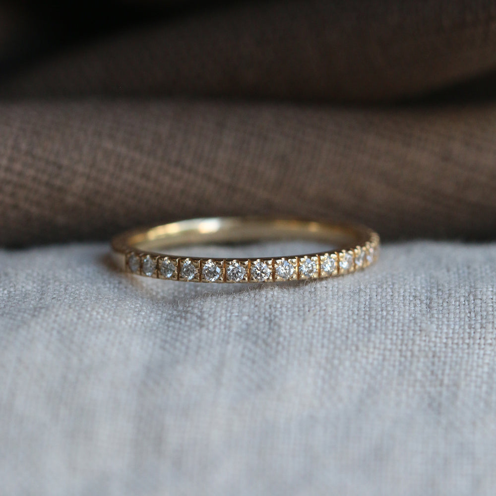 Slim Eternity Ring - 14k - Made to Order
