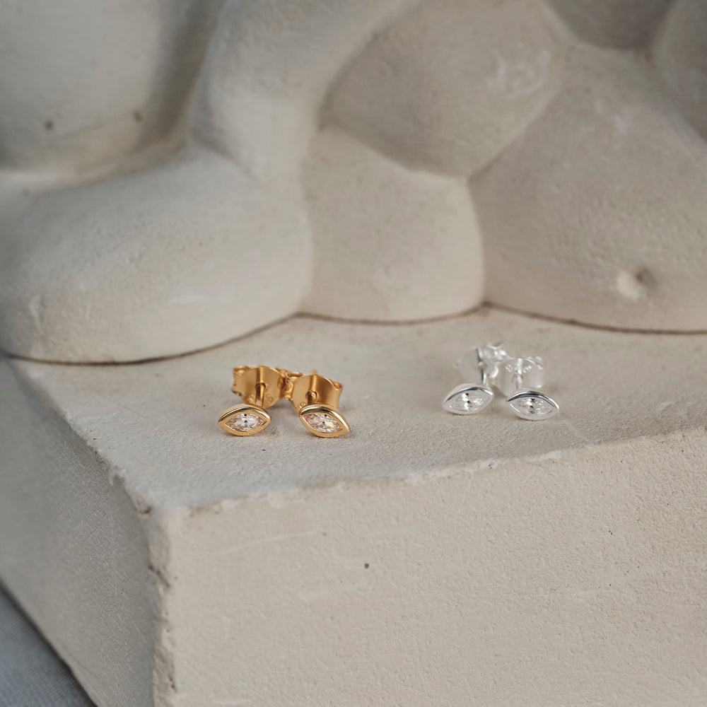Marquise Ear Studs
