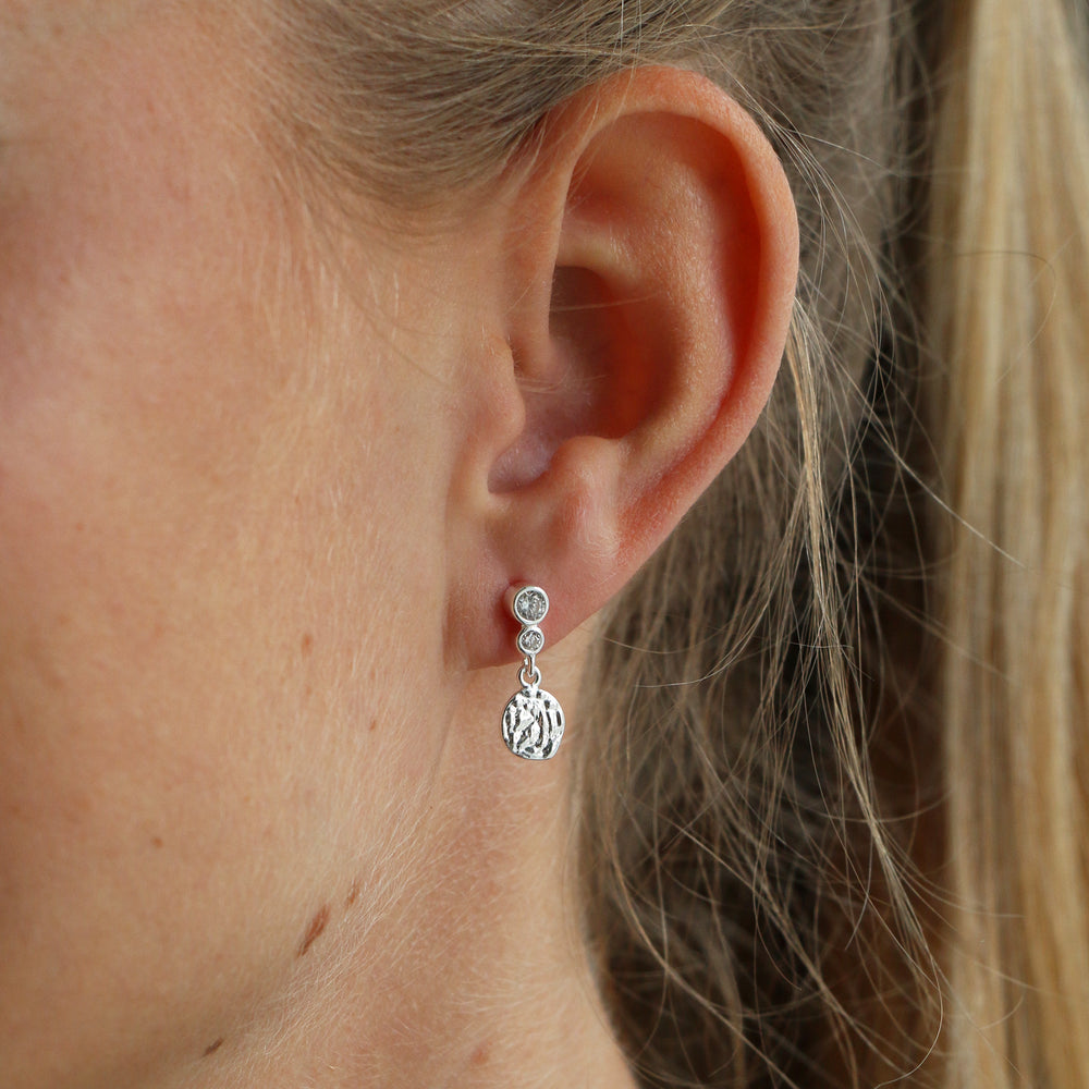 Cloudy Crystal Studs