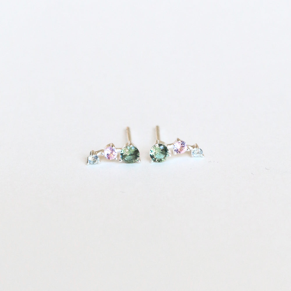 Magnolia Ear Studs - Colored