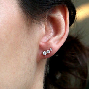 Magnolia Ear Studs - White