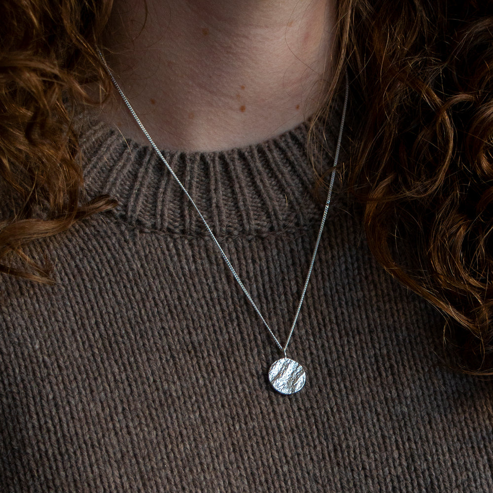 Structured Sphere Pendant - Small
