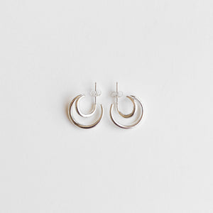 Twin Crescent Hoops