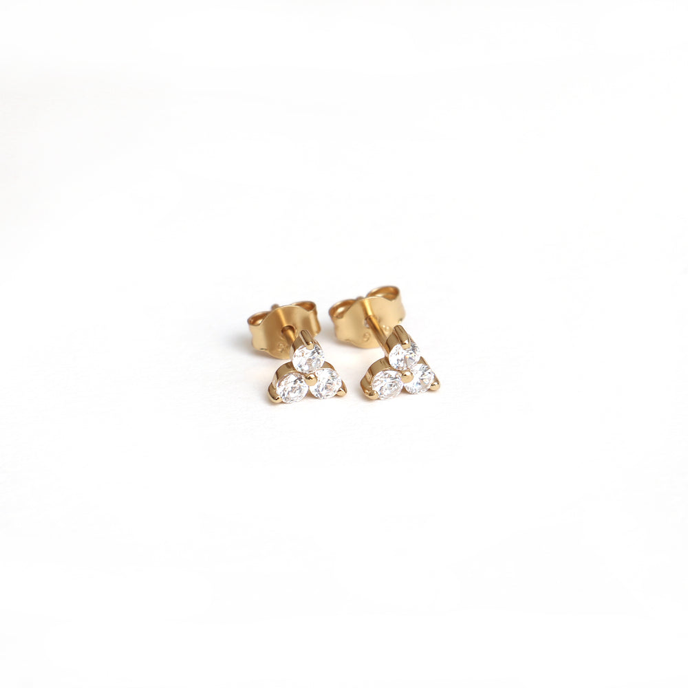 Viola ear studs handcraftedcph - gold plated