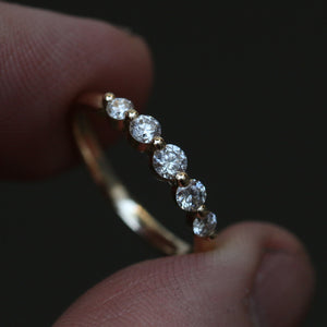 Floating Eternity Ring - 14k - Made to Order