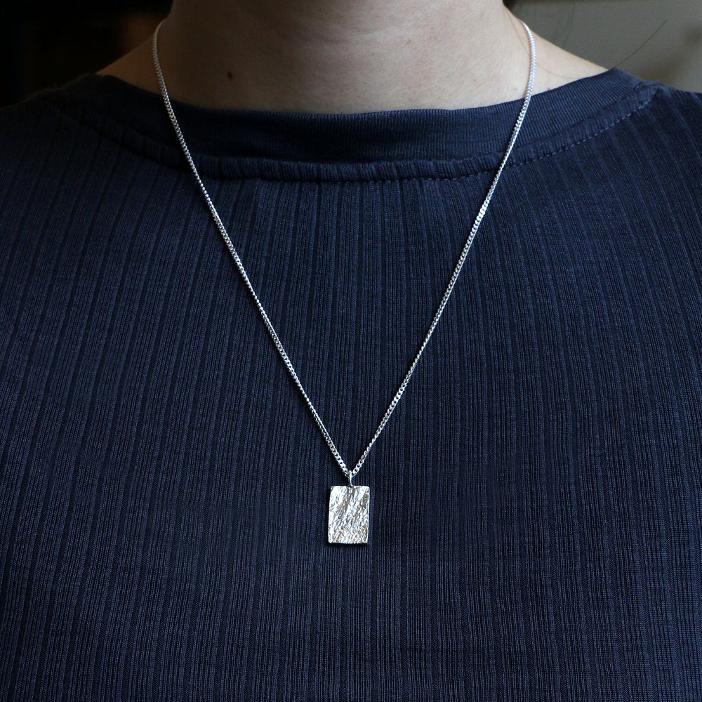 Structured Square Pendant