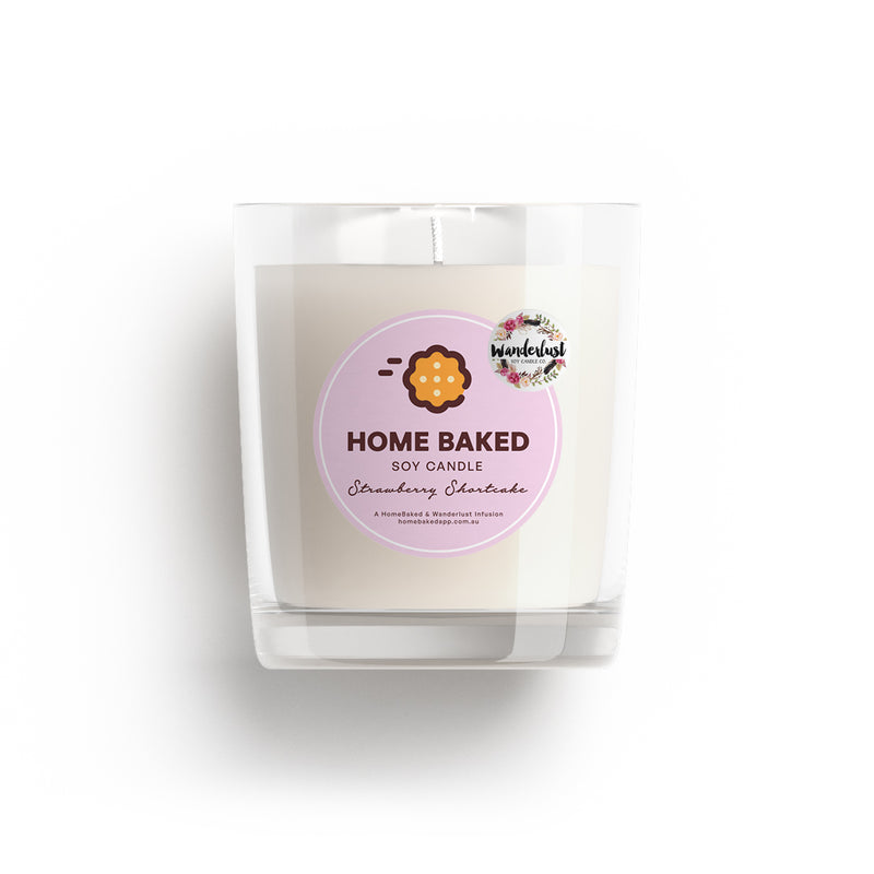 Scented Candle — Strawberry Shortcake