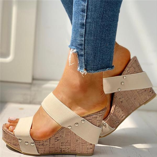 JeschicRivet Detail Platform Wedge Sandals