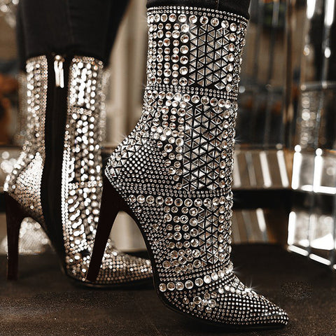 Upawear Fashion Shine Bling Boots