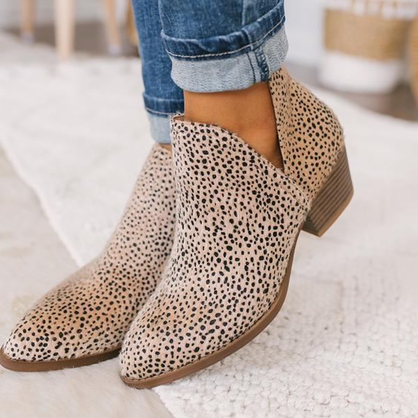 Jeschic Cut-out Ankle Booties