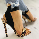 Jeschic Leopard Fashion Women Sandals