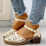 Jeschic Wild One-piece Buckle Heel Women Shoes