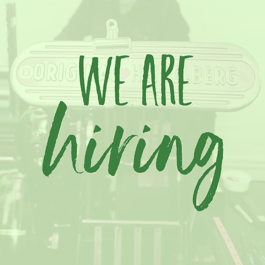 We're Hiring: Part-Time, Seasonal Fulfillment Assistant