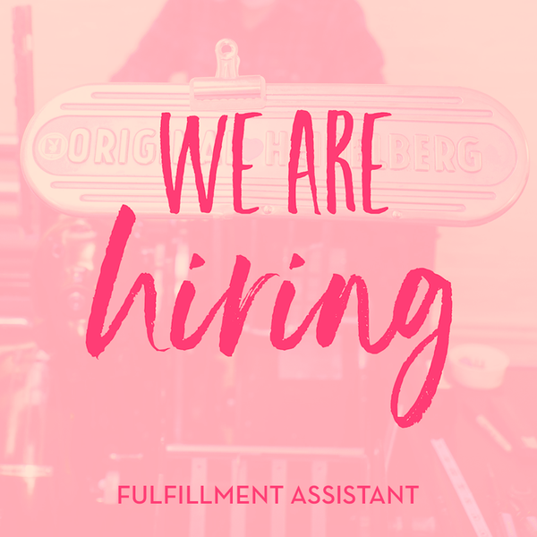 We're Hiring: Part-Time Fulfillment Assistant