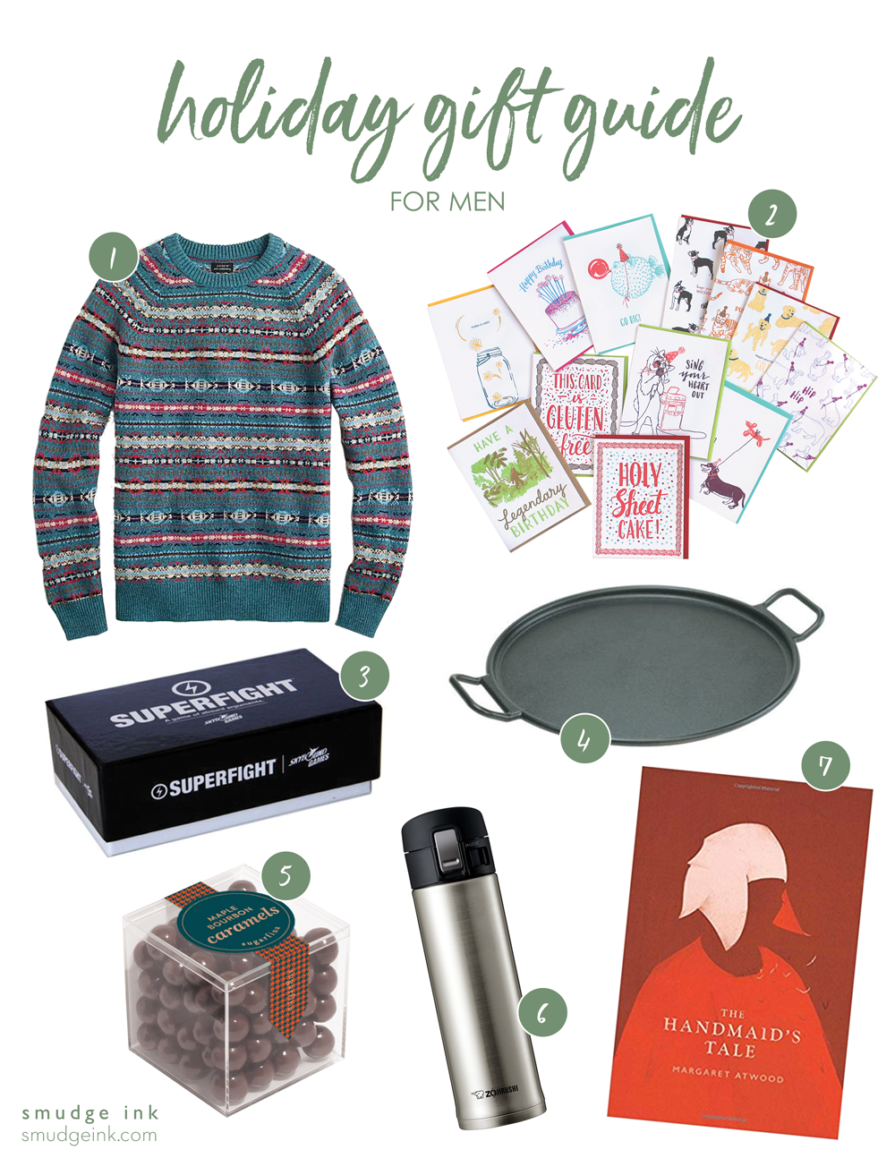 2018 Holiday Gift Guide for Men by Smudge Ink