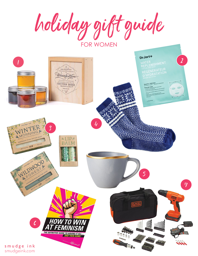 2018 Holiday Gift Guide for Women by Smudge Ink