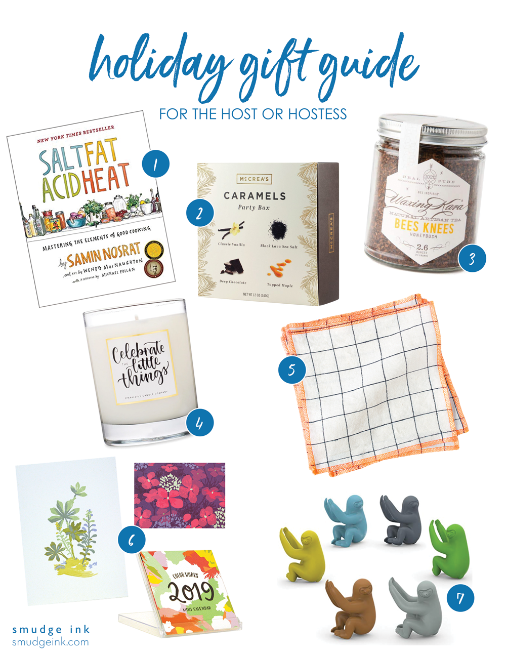 2018 Holiday Gift Guide for the Host or Hostess by Smudge Ink