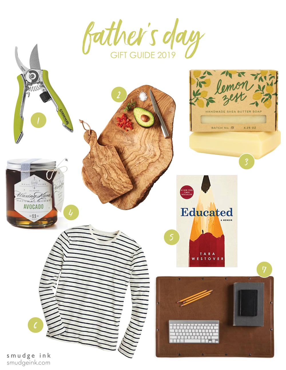 Father's Day Gift Guide by Smudge Ink