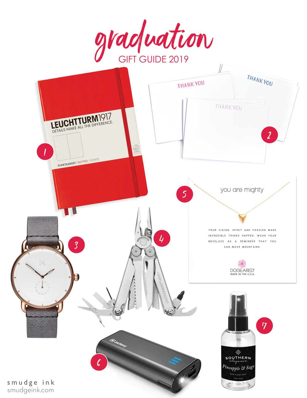 Graduation Gift Guide 2019 - Smudge Ink