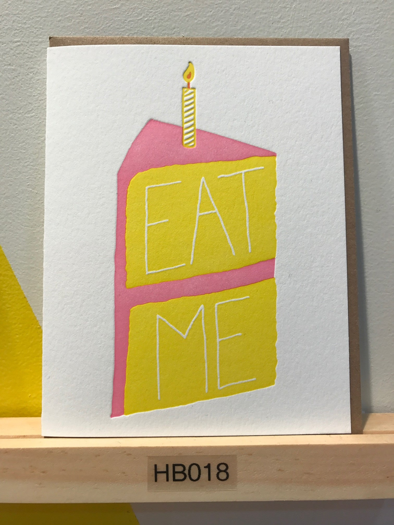 Wishbone Letterpress Eat Me card