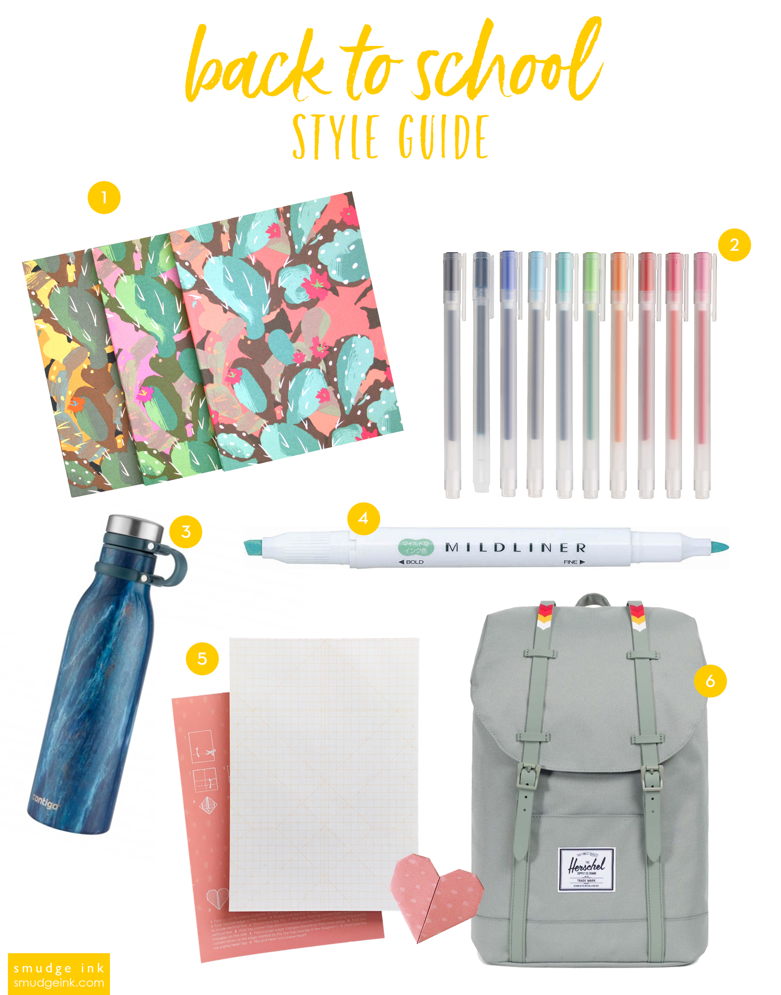 back to school style guide 2018 by smudge ink