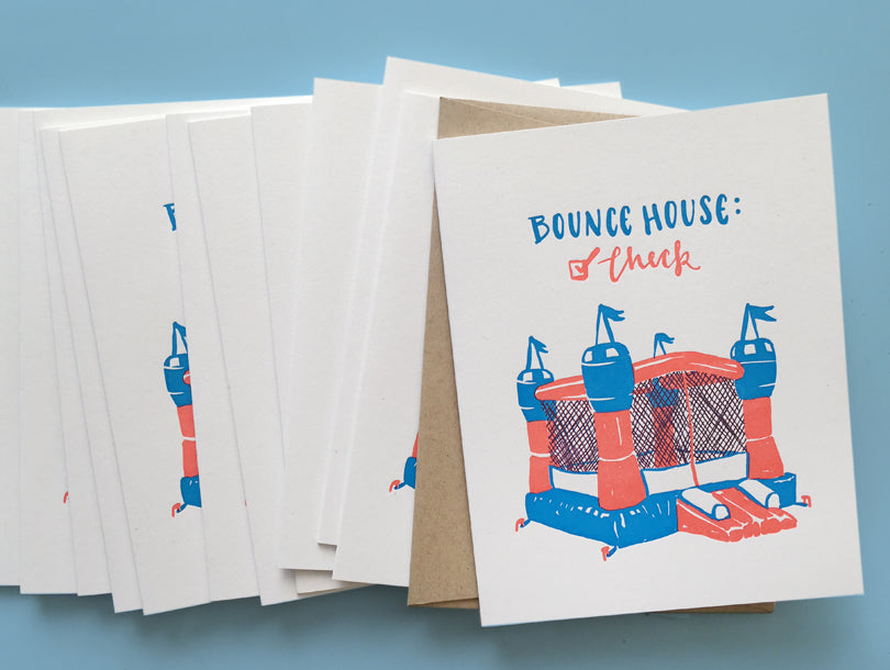 Bounce House Card | Smudge Ink