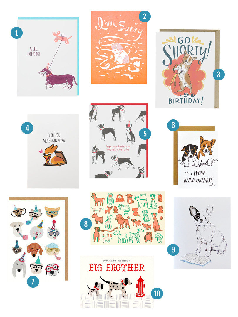 Dog Card Round Up | Blog | Smudge Ink