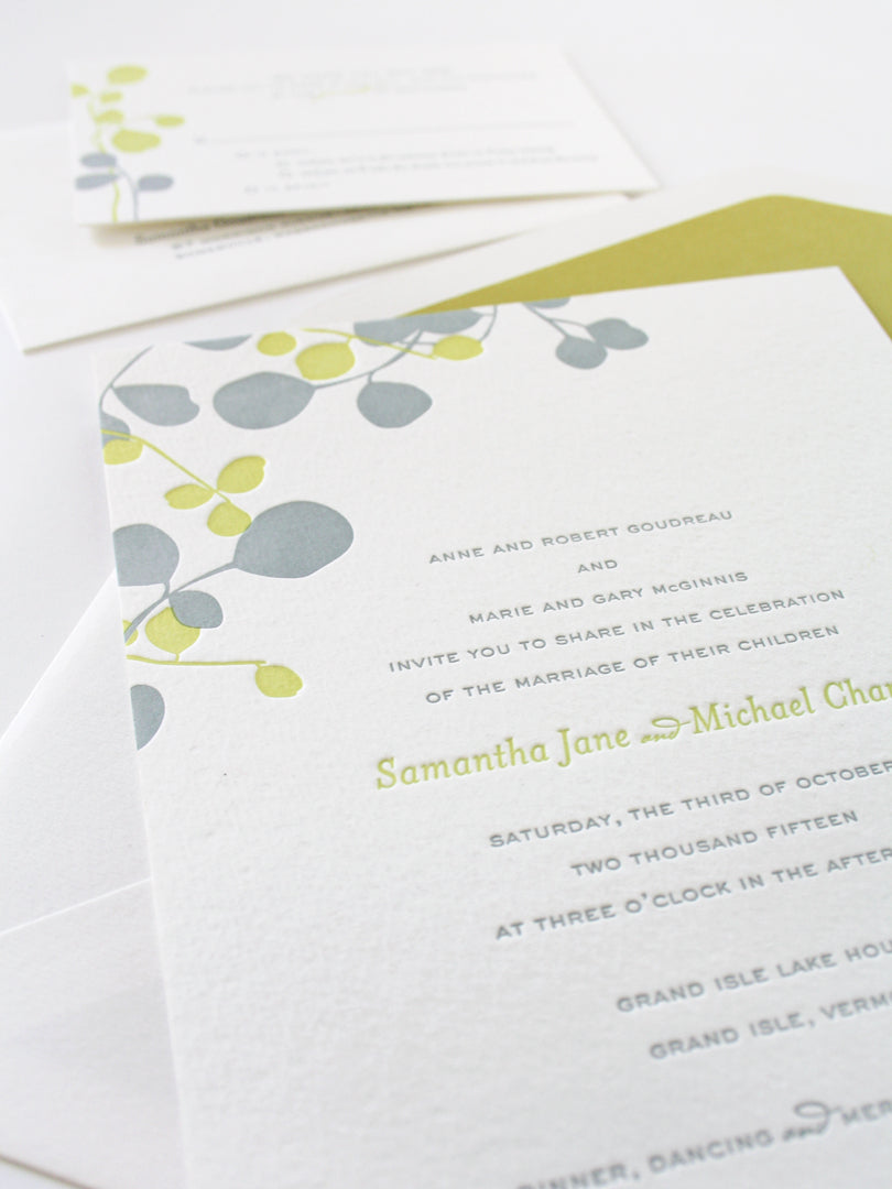 Eucalyptus Wedding Invitation | Smudge Ink