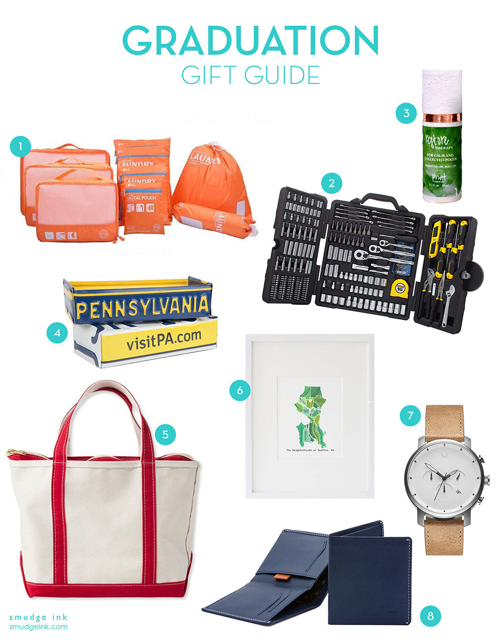 2018 graduation gift guide by smudge ink