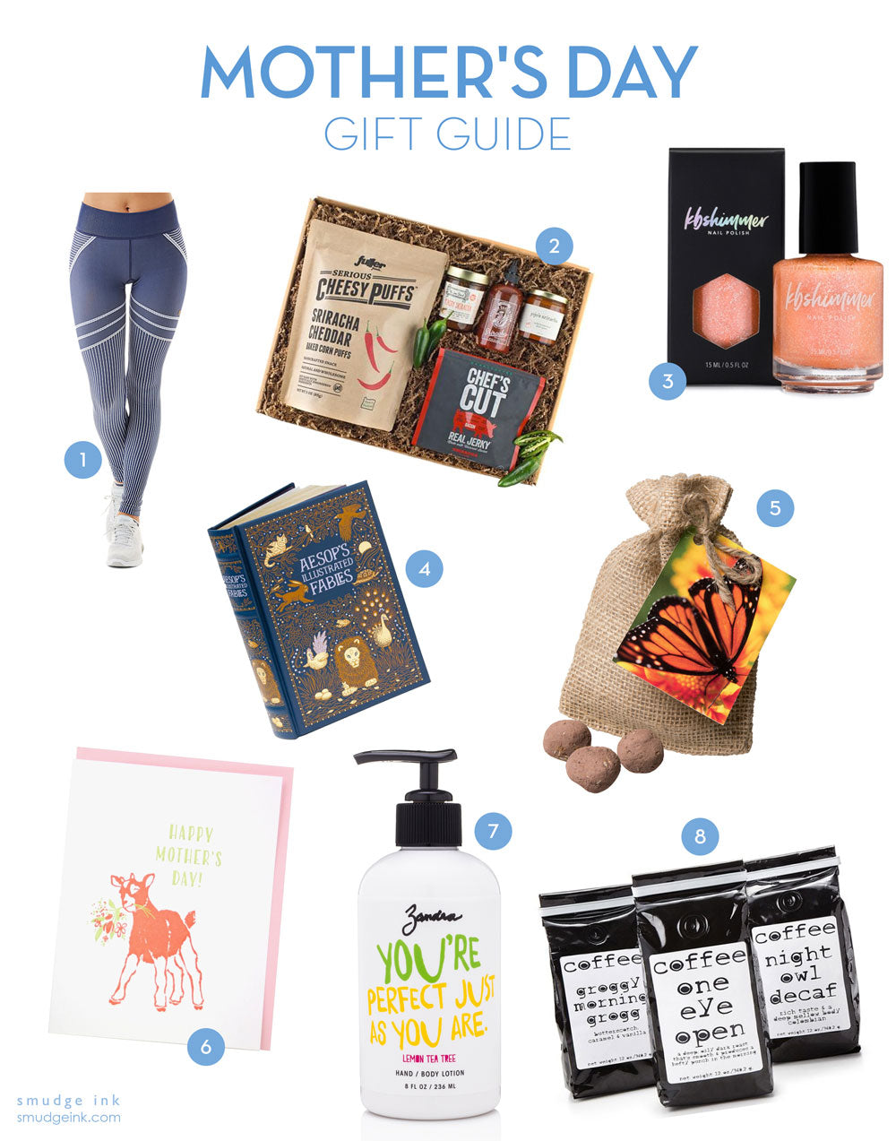2018 Mother's Day Gift Guide by Smudge Ink