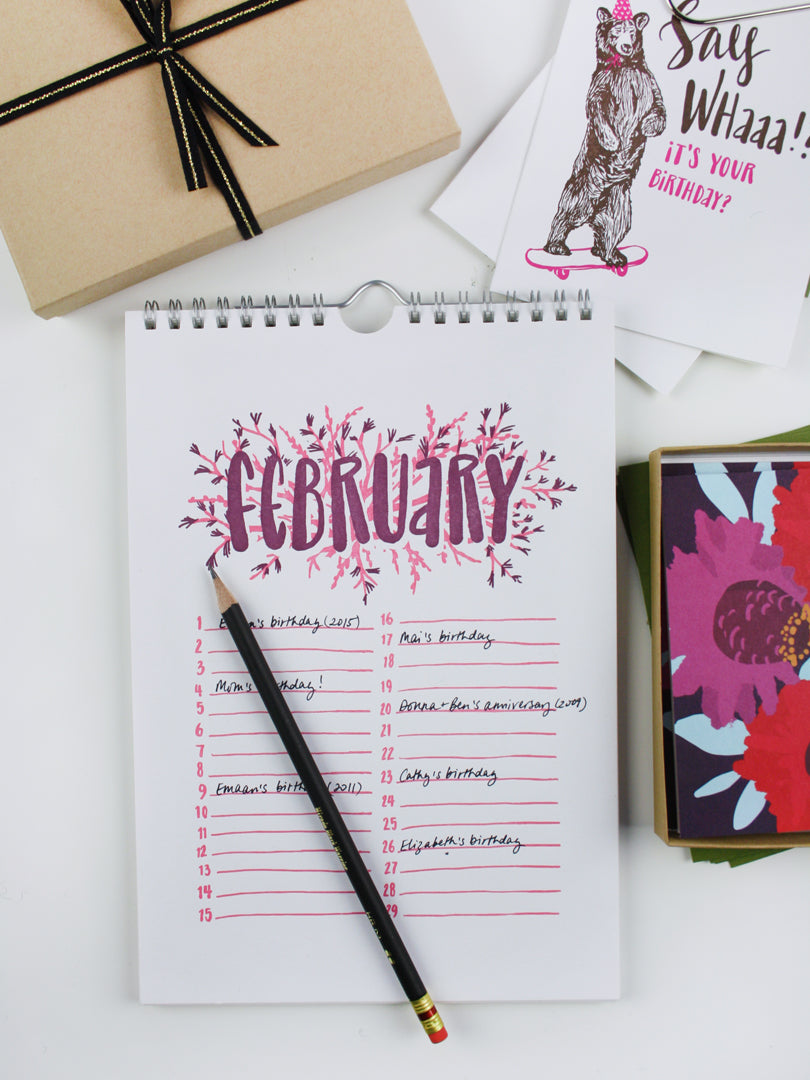 Getting Organized with the Perpetual Calendar | Smudge Ink