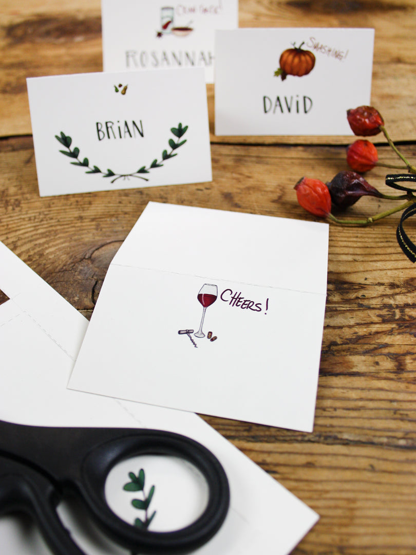 Printable Thanksgiving Place Cards | Smudge Ink