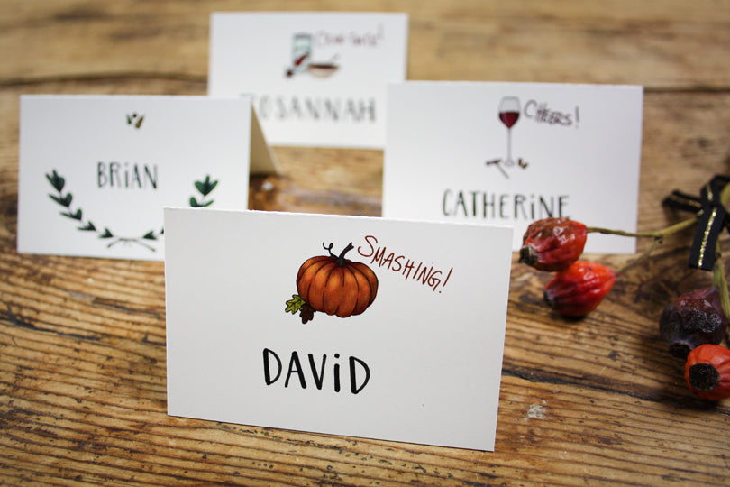 Printable Smashing! Pumpkins Place Card