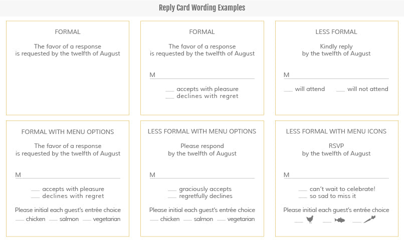... Dates Customization How to Order Etiquette and Wording Wedding FAQs