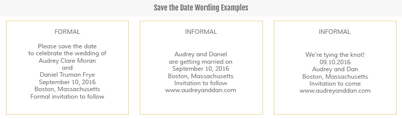 Etiquette and Wording – Save the Date Wording for Destination Wedding