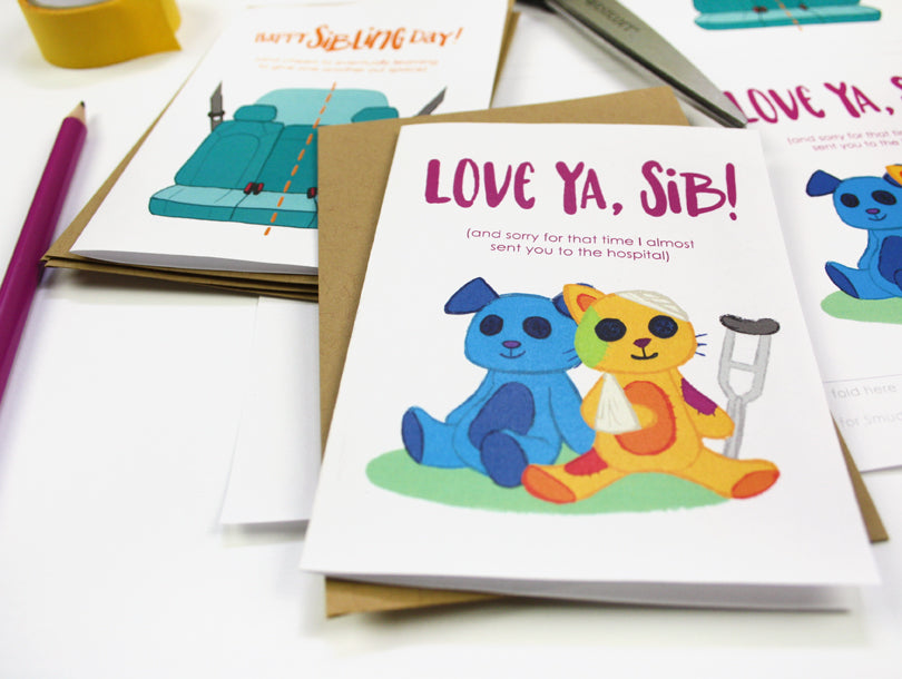 Free Printable Sibling Day Cards | Smudge Ink