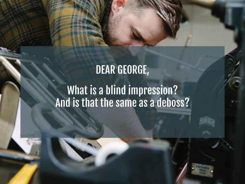 Letterpress Q&A | What is a Blind Impression? | Smudge Ink