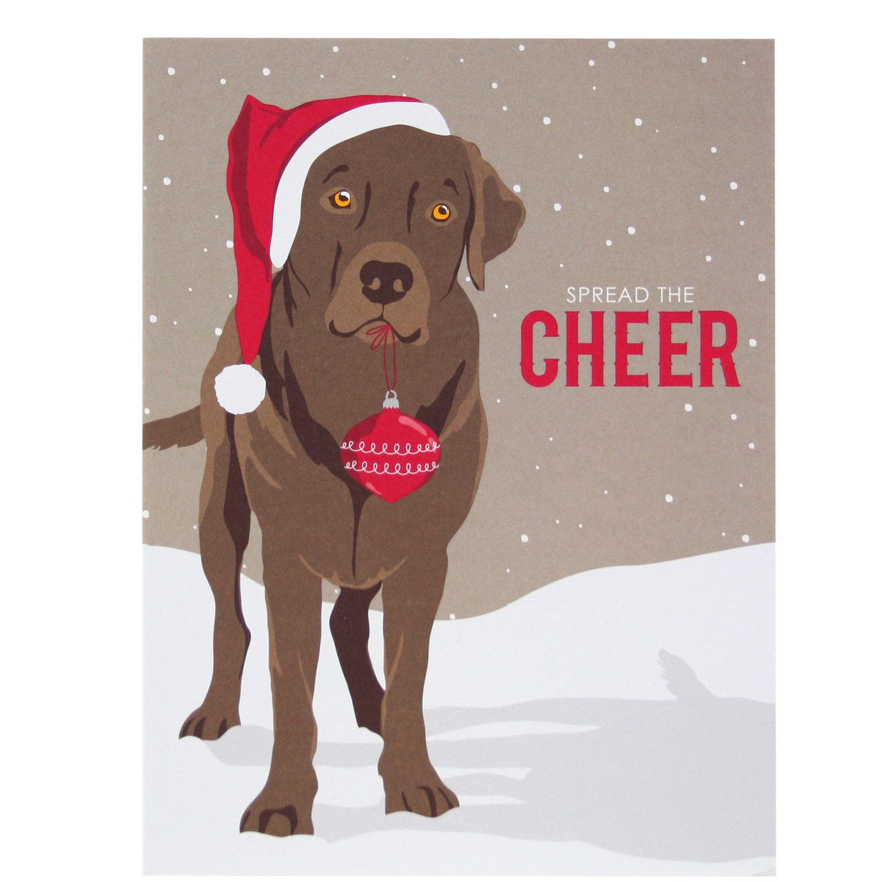 Labrador Wearing Santa Hat Christmas Card